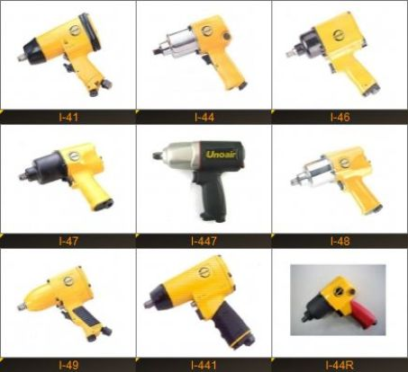 """AIR IMPACT WRENCH (1/2"""" TWIN HAMMER MECHANISM) 1"""